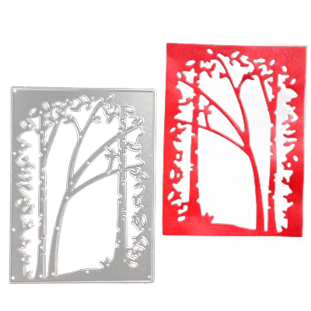Lady Time Clearance!!Tree Metal Cutting Dies Stencil Scrapbooking Photo Paper Cards Crafts Embossing DIY