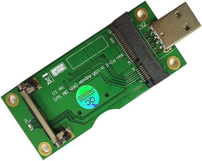 PCI-E Mini PCI-Express to USB Adapter With SIM Card Slot for WWAN//LTE Module new