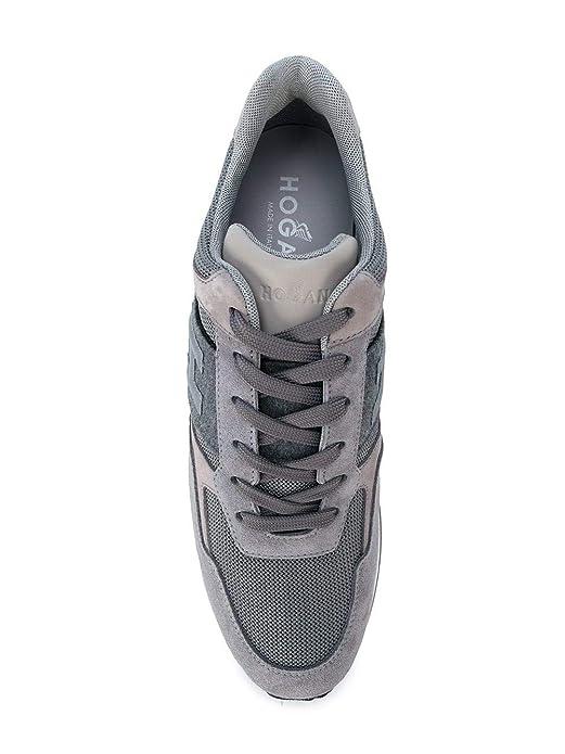 Hogan Scarpe Uomo Sneaker Lace up H321 Allacciato H 3D HXM3210Y850HIR246L  Grigio (42.5 EU - 8.5 UK)  Amazon.it  Scarpe e borse b4ccc7e8711