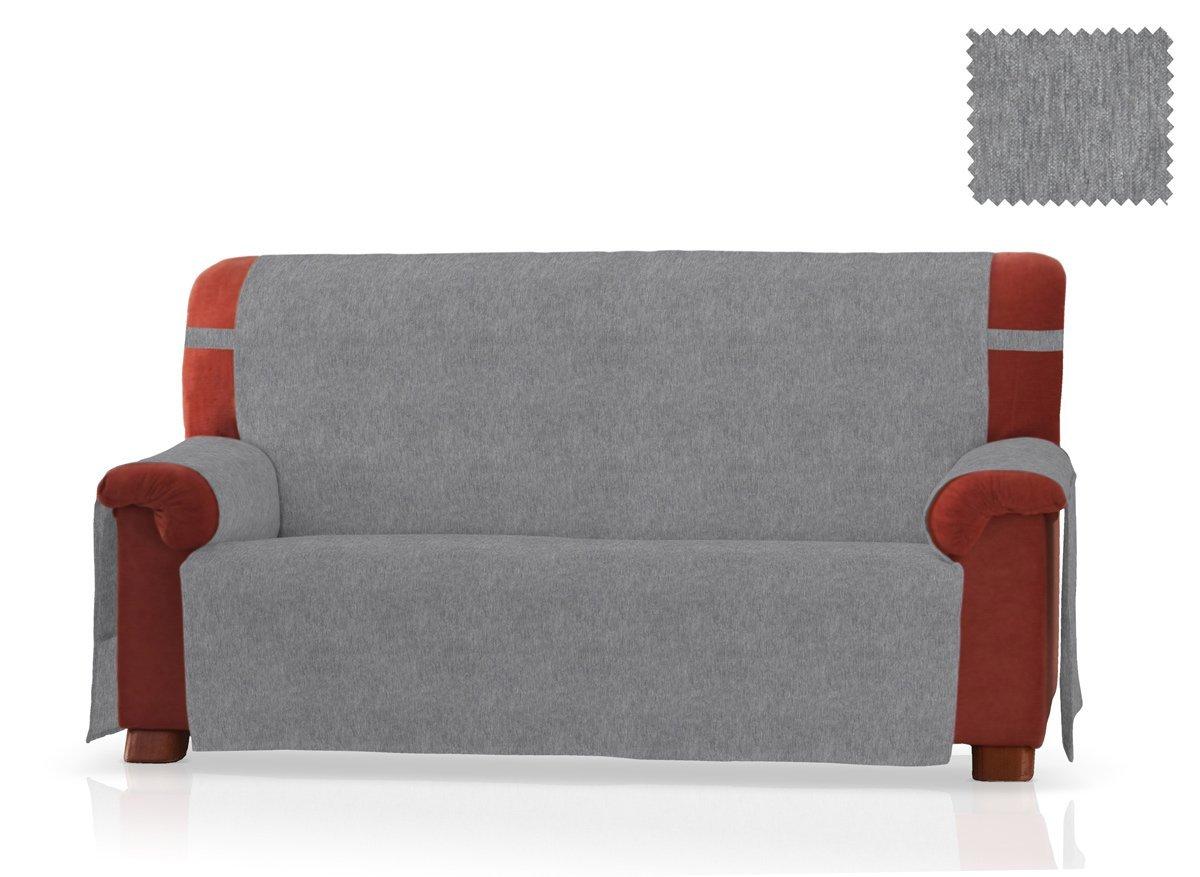 JM Textil Sofaschoner Larissa Größe 2 Sitzer (130 cm), Farbe Grau