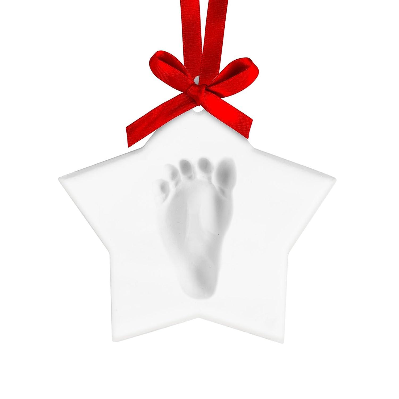 Pearhead Babyprints baby Handprint or Footprint Keepsake Ornament - Makes A Perfect Holiday Gift, Star Pear Head 50012