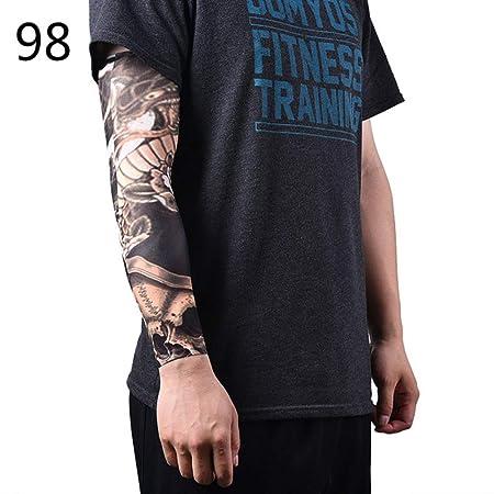 4 Piezas Calcetines para Hombre Calcetines Manga para Tatuaje ...
