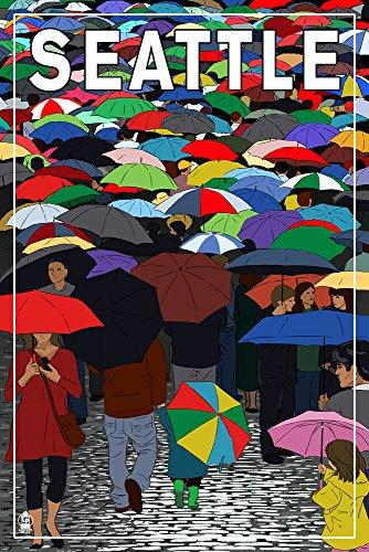 Seattle, Washington - Umbrellas