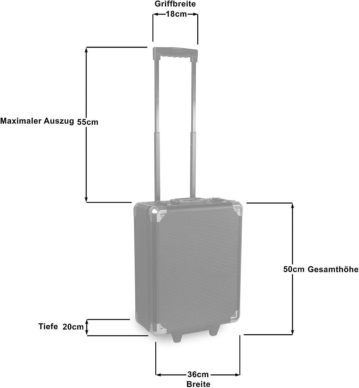 Steckschl/üssel Bits Schraubendreher Zangen Blackline Werkzeugkoffer Alurahmen mit Ratschen Trolley Gabelringschl/üssel hanSe 969tlg