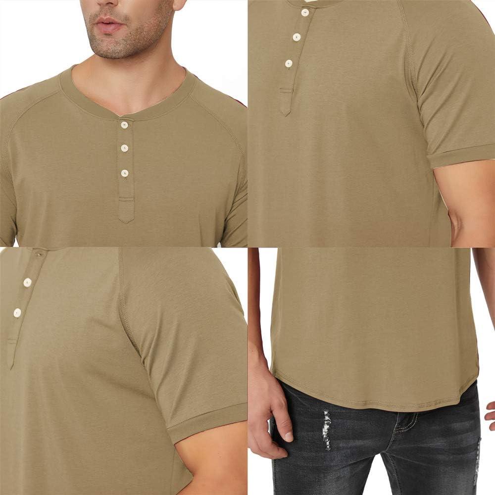 KOGO Mens Long Sleeve Henley Shirt/…