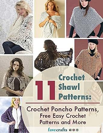 Amazon 11 Crochet Shawl Patterns Crochet Poncho Patterns Free