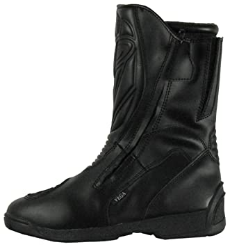 Amazon.com: Vega Touring Men's Motorcycle Boots (Black, Size 10 ...