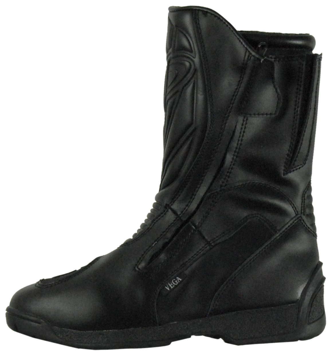 Vega Technical Gear Vega Touring Men's Motorcycle Boots (Black, Size 10)