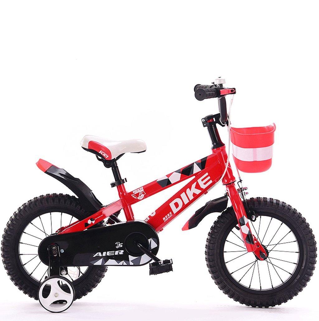 子供用自転車12/14/16/18インチ212歳の男の子と女の子用自転車三輪車 (色 : 赤, サイズ さいず : 16 inches) B07D7TQGD6 16 inches|赤 赤 16 inches