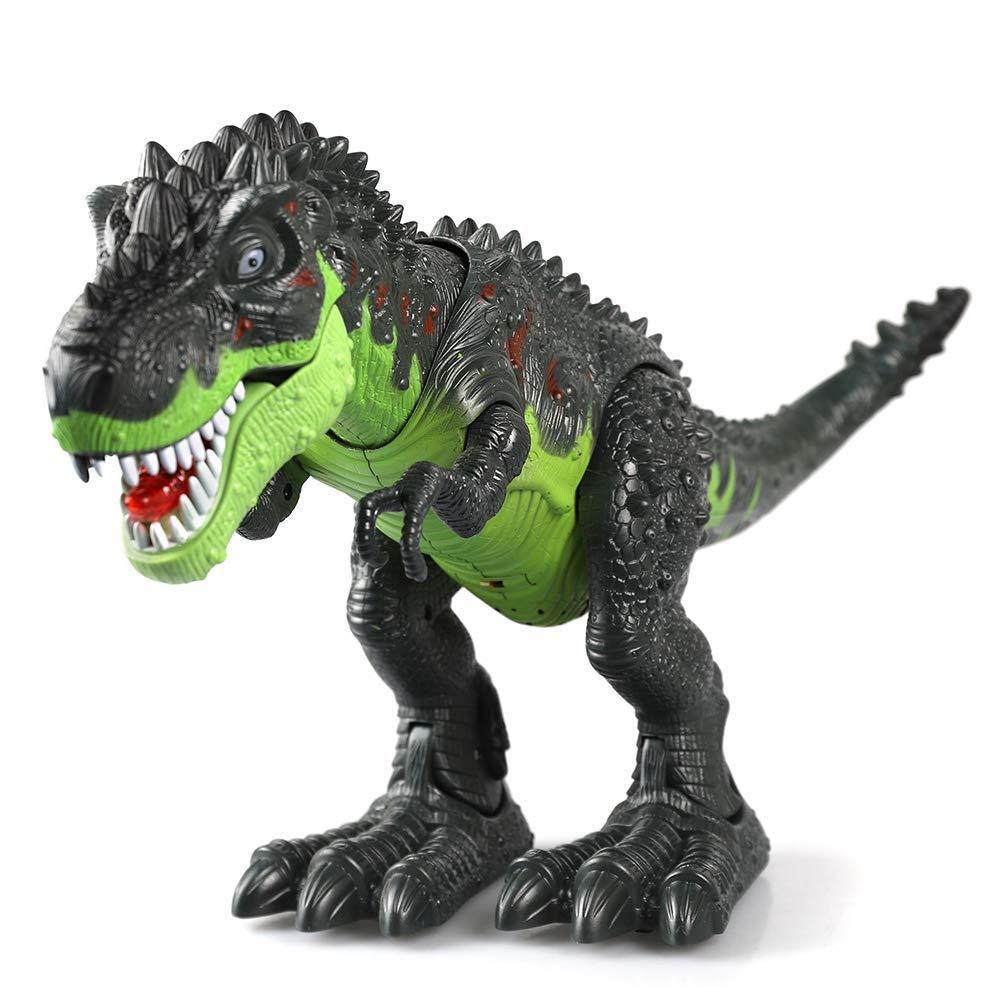 Juguete KINGBOT Electronic Verde Walking Dinosaurier con Rayos y Tonos para ni/ños