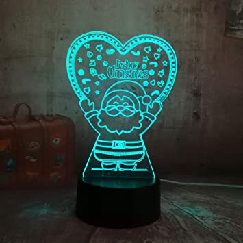 Lámpara de la ilusión 3d de wangZJ/luces de la noche del led ...