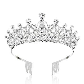 Amazon.com: Makone - Coronas de cristal y tiaras con diadema ...