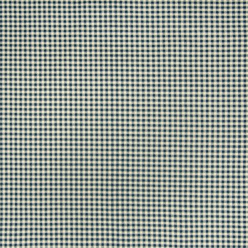 Chambray Blue Check Houndstooth Cotton Print Made in USA Upholstery Fabric by the yard (Houndstooth Fabric Upholstery)