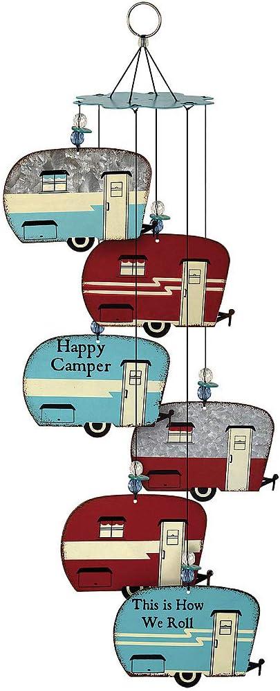 Sunset Vista Designs Wind Chimes Camper Trailer RV Decor Galvanized Metal
