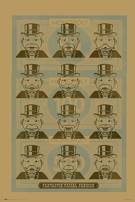 ERIK - Póster Monopoly Facial Fashion (91x61,5 cm): Amazon.es: Oficina y papelería