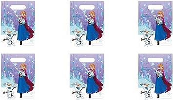 ALMACENESADAN 0649, Pack 6 Party Bags Disney Frozen; Bolsas Tipo Cono Disney Frozen: Amazon.es: Juguetes y juegos