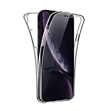Funda Para Apple iPhone XR, Carcasa TPU Full Cover 360 Compatible con Apple iPhone XR, Grados Antigolpes Integral Silicona e acrílico Fina Resistente ...