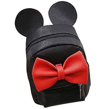4acf88aa458 Amazon.com | Women Girls Cute Mini Backpack Casual Travel Mouse Ear PU  Leather Shoulder School Bag Rucksack Daypacks, Black, One Size | Kids'  Backpacks