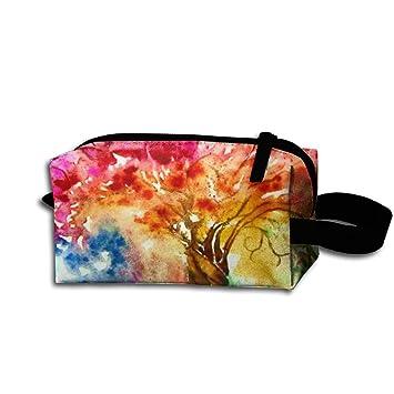 HYHYFGSSD Fabric Bountiful Tree Fat Qu.Lite Fix Makeup Bag Zipper Pouch  Purse Portable Storage