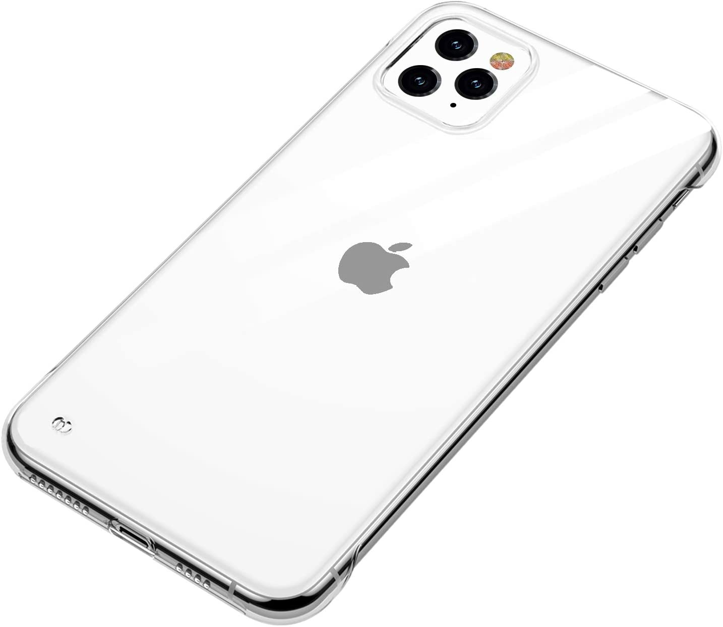 ANHONG Ultra-Thin iPhone 11 Pro Max Clear Case, Slim Fit Hard Plastic Frameless Cover Case Compatible with iPhone 11 Pro Max 6.5 Inch (2019) (Clear)