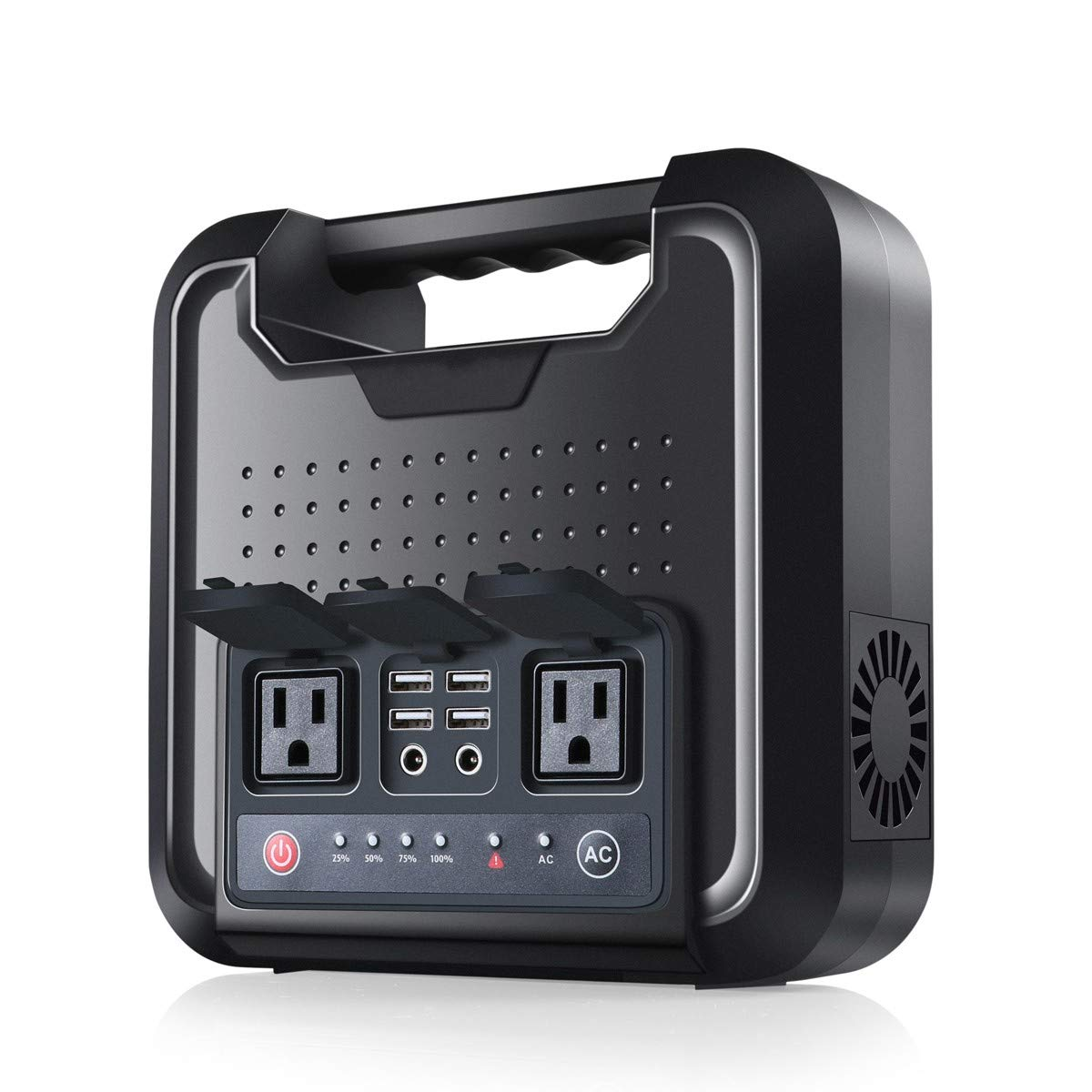 Portable Generator 300W 64800mAh Portable Power Supply, 220Wh UPS Battery Backup Pack Rechargeable Power Station with 2 110V AC Outlet, 2 DC Ports, 4 USB Ports for Camping, CPAP or Emergency Backup