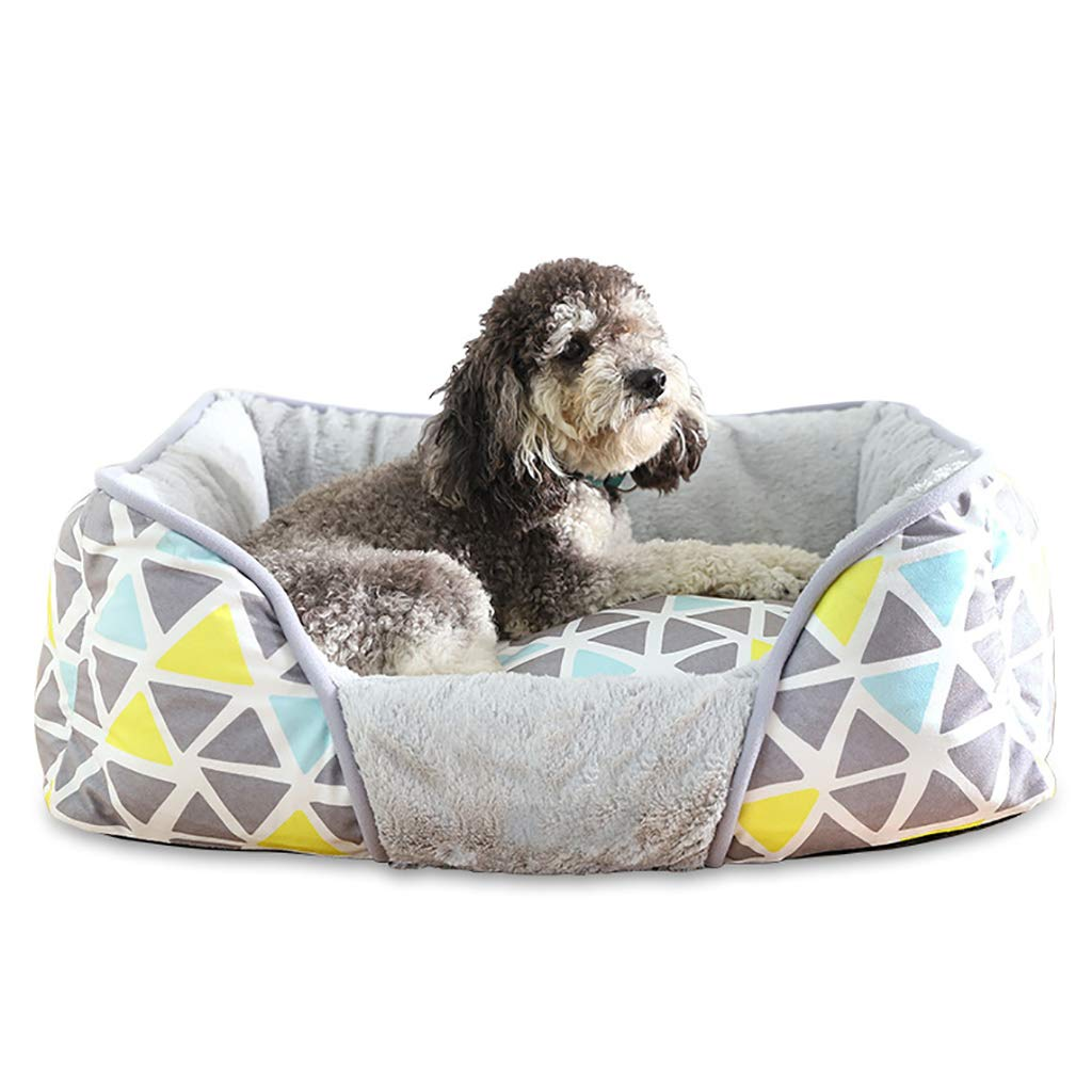 756219 Pet house kennel Washable Small dog Medium dog Pet mat pet nest Pet bed Thicken Keep warm Four seasons available (Size   75  62  19)