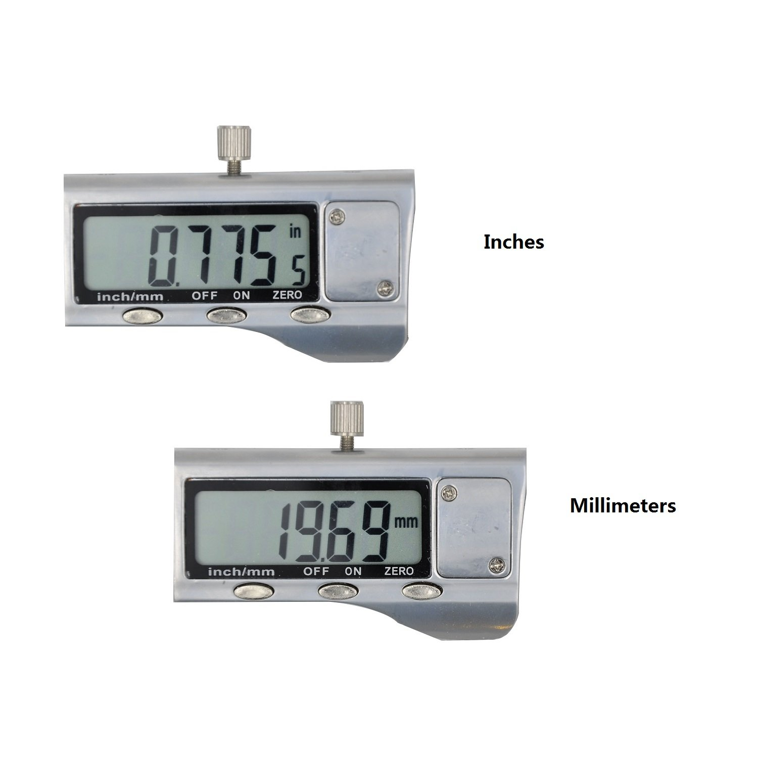 Electronic Digital Caliper - Bovini Caliper Measuring Tool in Inches & Millimeters Conversion 0-6 Inch/150 mm Stainless Steel Auto off Measuring Tool For Dimensions, Thickness, Depth, Diameter by Bovini (Image #5)