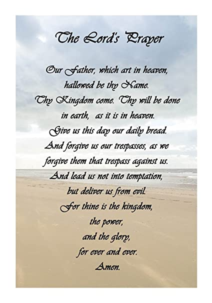 photograph about Printable Lord's Prayer known as : The Lords Prayer - Seaside Veruca Salt Artwork Print