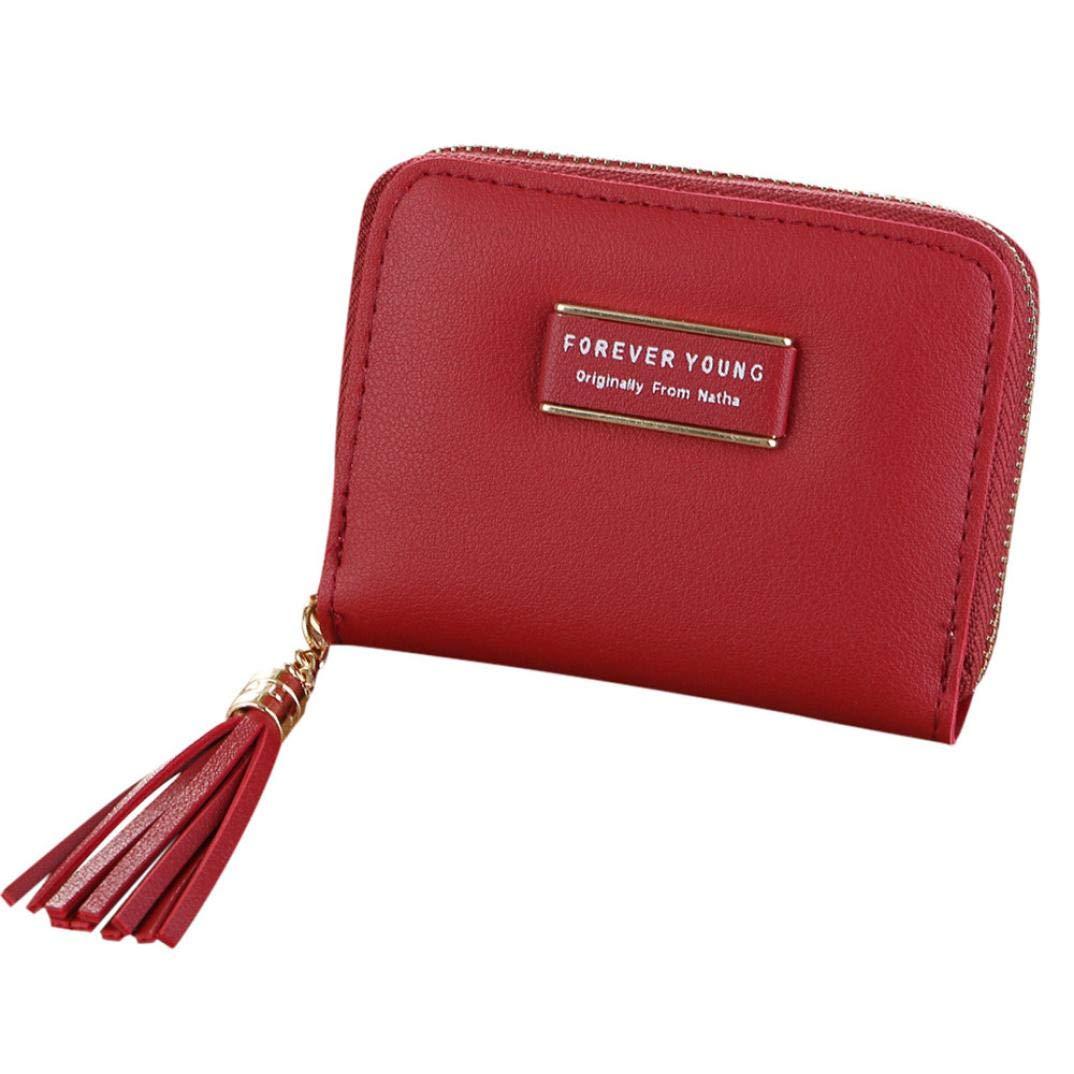 Amazon.com: Monedero para mujer, simple con cremallera retro ...