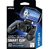 Nyko Smart Clip - PlayStation DUALSHOCK 4 Controller Clip on Mount for Android Phones, Samsung Galaxy S6, S7, S8, S9, Edge, Note 8, Note 9, iPhone 6/S/+, iPhone 7/S/+, iPhone 8/S/+, iPhone X/XS/ XS Max/+, Max Clamp 6 Inches (Color: Black)