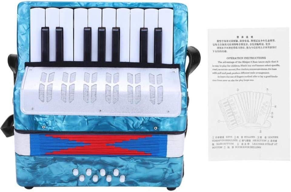 17 Schlüssel 8 Bass Piano Accordion mit ein Manual Suitable für Beginners