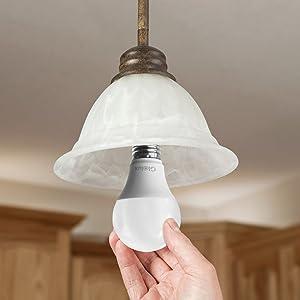 Glolux 75 Watt Equivalent LED Light Bulb, 1100 Lumen, Daylight 5000K 11 Watt, Non-dimmable 25,000 Hour Lifespan, A21 E26 Base Pack of 6