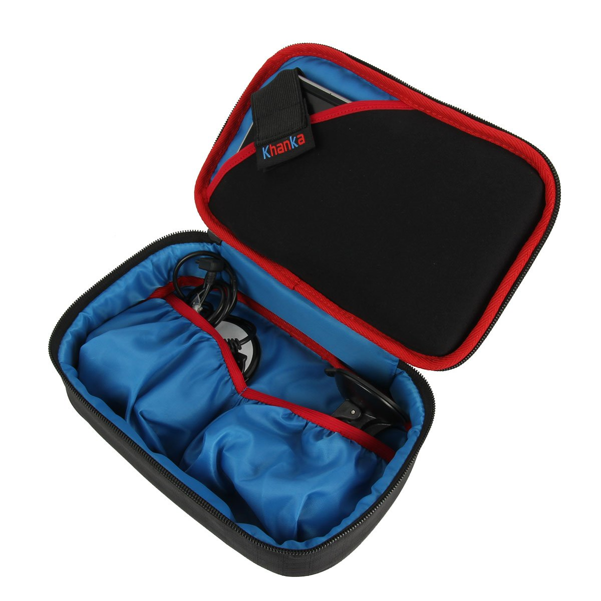 Khanka Hard Travel Case Replacement for 6-7'' inch Garmin DriveSmart 70 NA LMT GPS Navigator System (Soft) by khanka