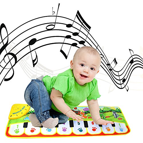 board Music Play Mat Toys, Musical Floor Touch Dancing Mat Educational Games Gym Toys for Baby Toddlers Girls Boys Kids 1-6 Years Old,90×27CM (Ship Form US) ()