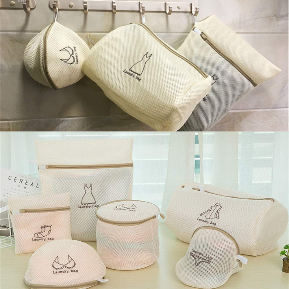 4 Pack Bra Laundry Bags for Delicates with Premium Zip Double Wall Protection Wash Bags
