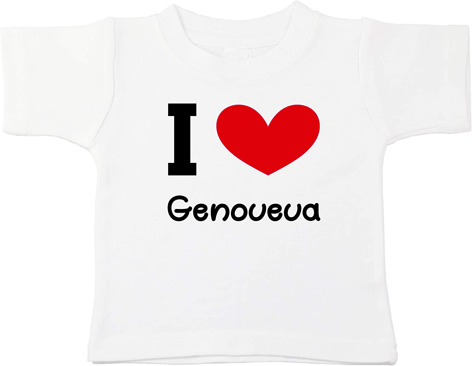 Kinacle I Love Genoveva Personalized Baby//Toddler T-Shirt