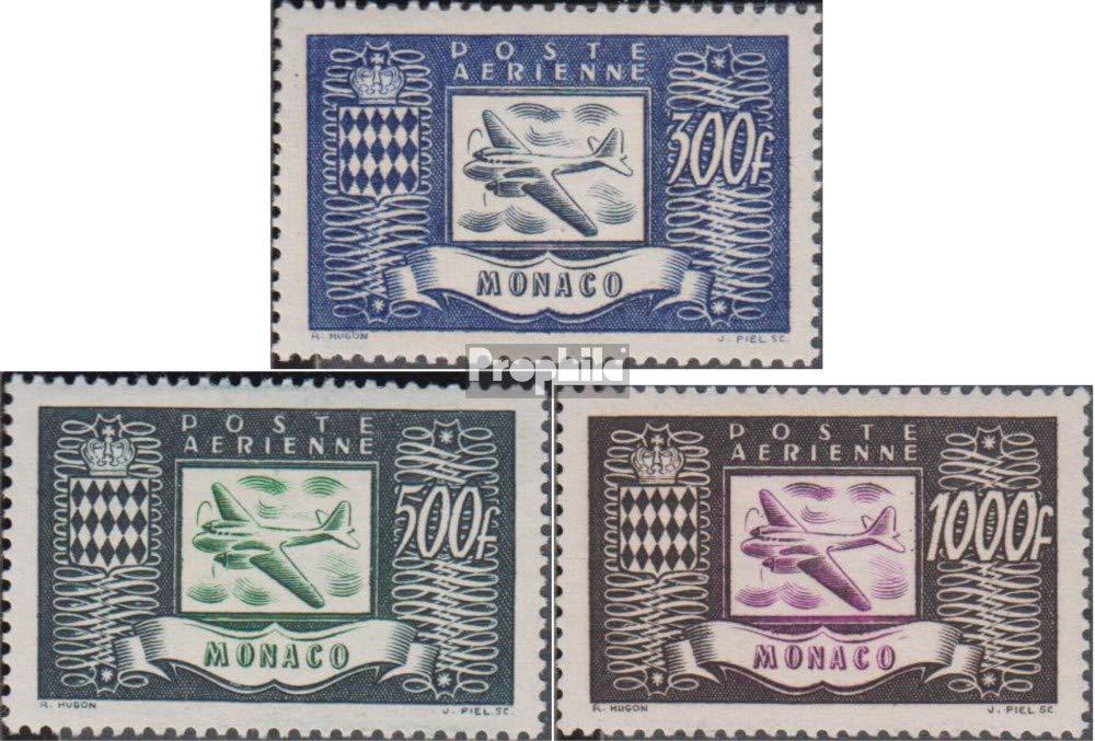 Prophila Collection Monaco 394-396 (kompl.Ausg.) 1949 Flugzeug (Briefmarken für Sammler) Luftfahrt