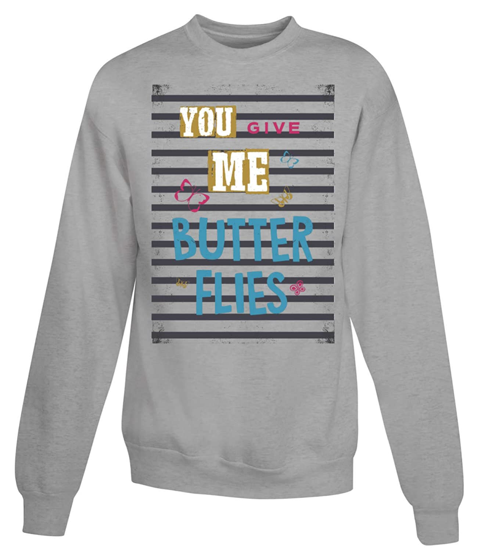 You Give Me Butterflies Note Women's Unisex Sweatshirt