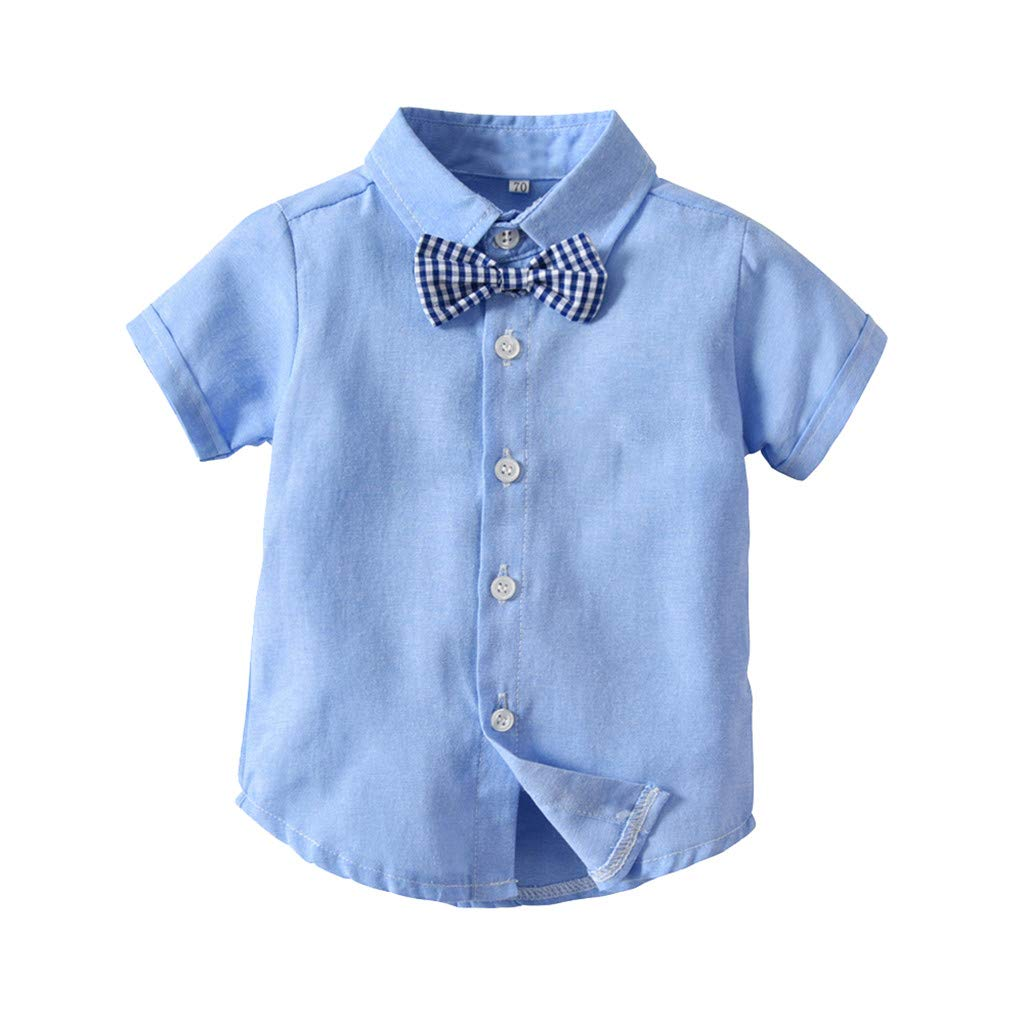 40f49bf0b Amazon.com: ❤ Mealeaf ❤ Infant Baby Boys Gentleman Bow Tie T-Shirt  Tops+Shorts Overalls Outfits Clothes (3M-24M): Home & Kitchen