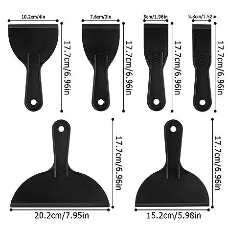 Papel Tapiz Calcoman/ías 6 Pcs Esp/átulas de Pl/ástico Esp/átulas para Masilla Flexible Herramienta de Raspadores de Pintura Adecuado para Alisar Pegamento Parchar Esparcir