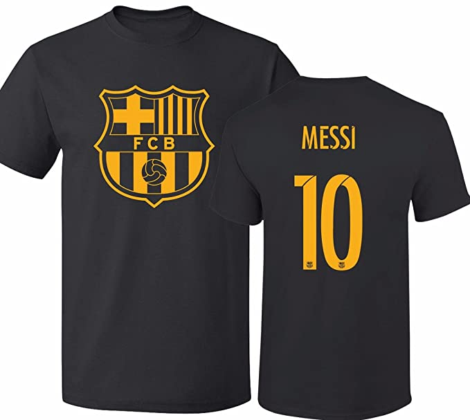728632d8894 Amazon.com  Barcelona Soccer Shirt Lionel Messi  10 Futbol Jersey Men T- shirt  Clothing