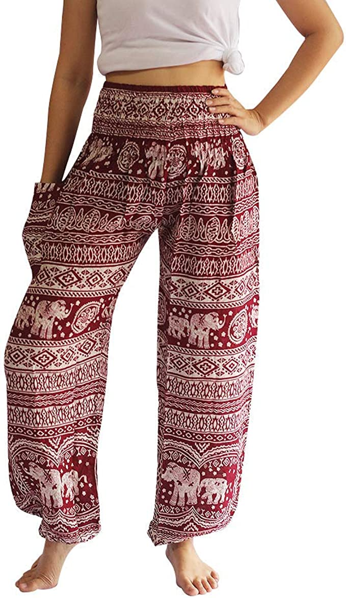 Harem Thai Pants Men Womens Boho Hippie Baggy Yoga Trousers Elephant Cool