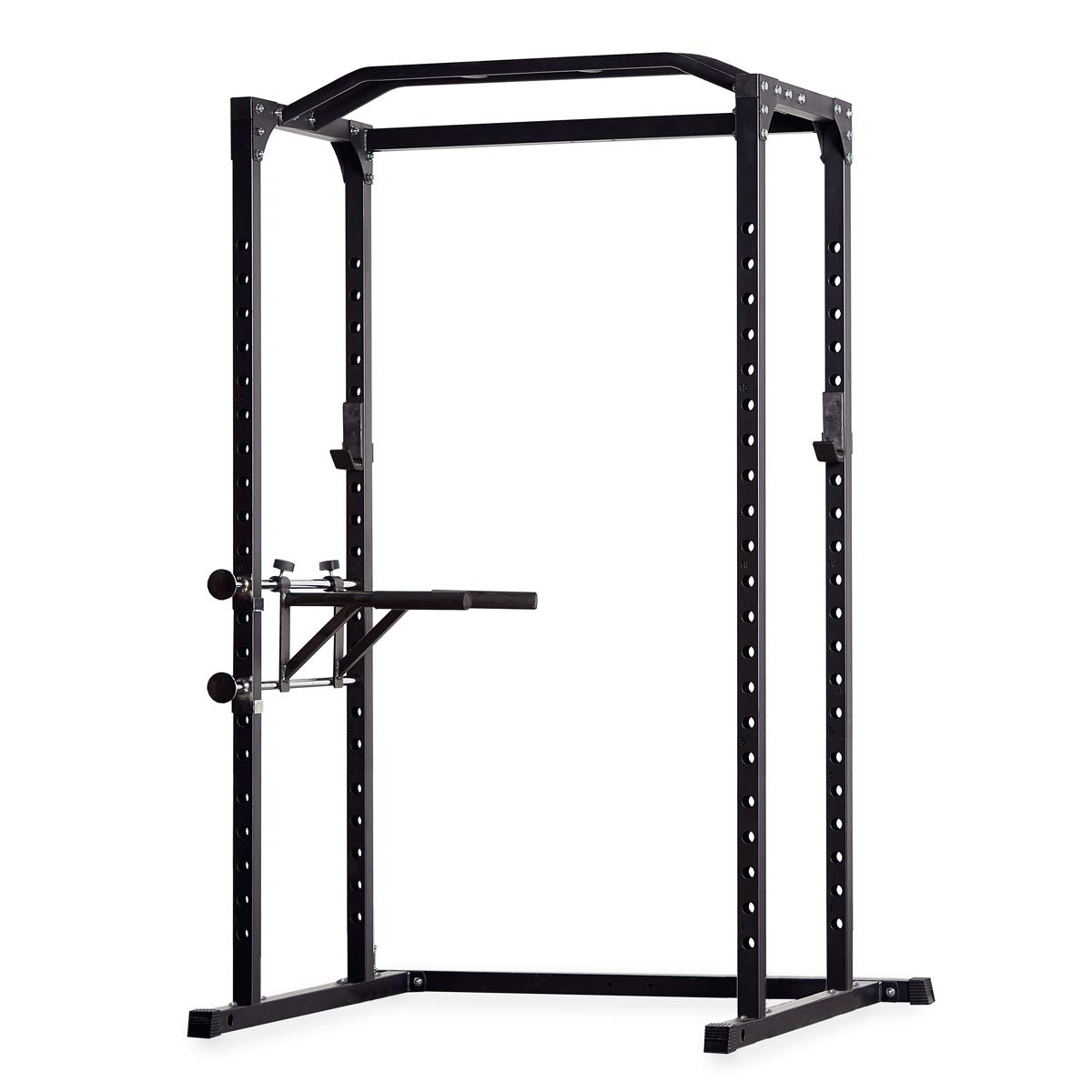 Rep PR-1100 Power Rack - 1,000 lbs Rated Lifting Cage for Weight Training (Power Rack + Dip Attachment, with FB-3000 Flat Bench)