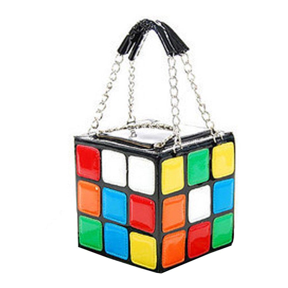 FTSUCQ Womens/Girls Leather Magic Cube Totes Shoulder Bags Shell Flap Handbags Hobos