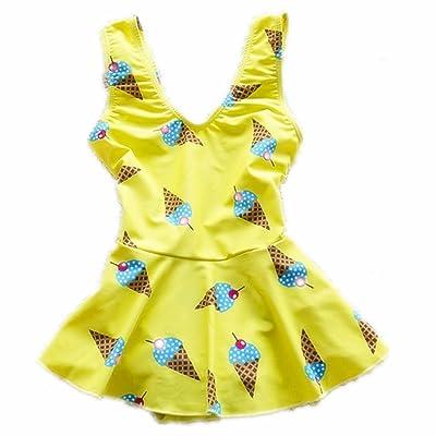 ZYZF Teens Girls Children Bikini Dresses Swimsuit Swimwear Beachwear