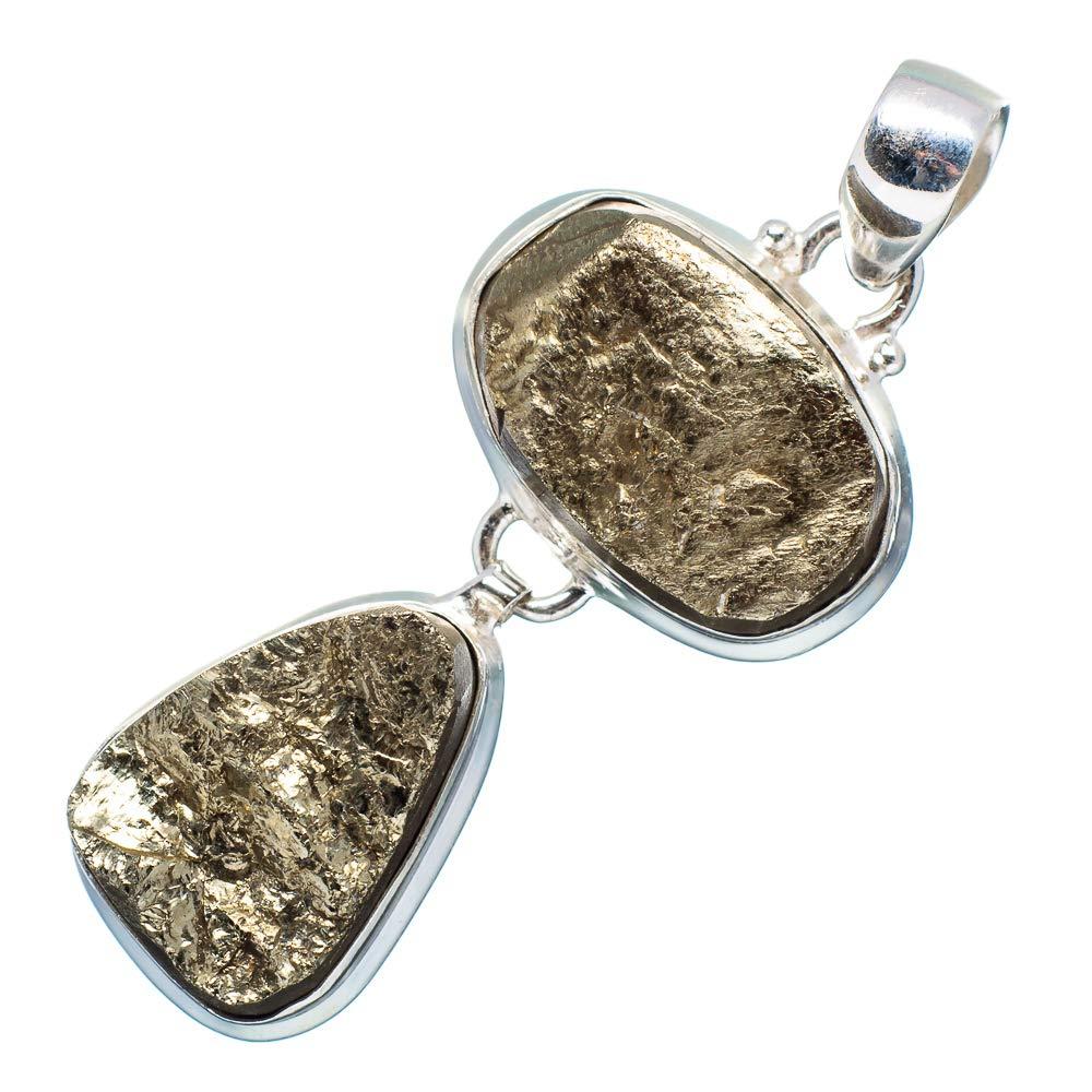 Vintage PD667560 Ana Silver Co Spectro Pyrite Druzy 925 Sterling Silver Pendant 2 Handmade Jewelry Bohemian