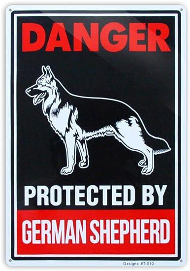 Aluminum Weatherproof Road Street Signs German Shepherd Home Decor Wall