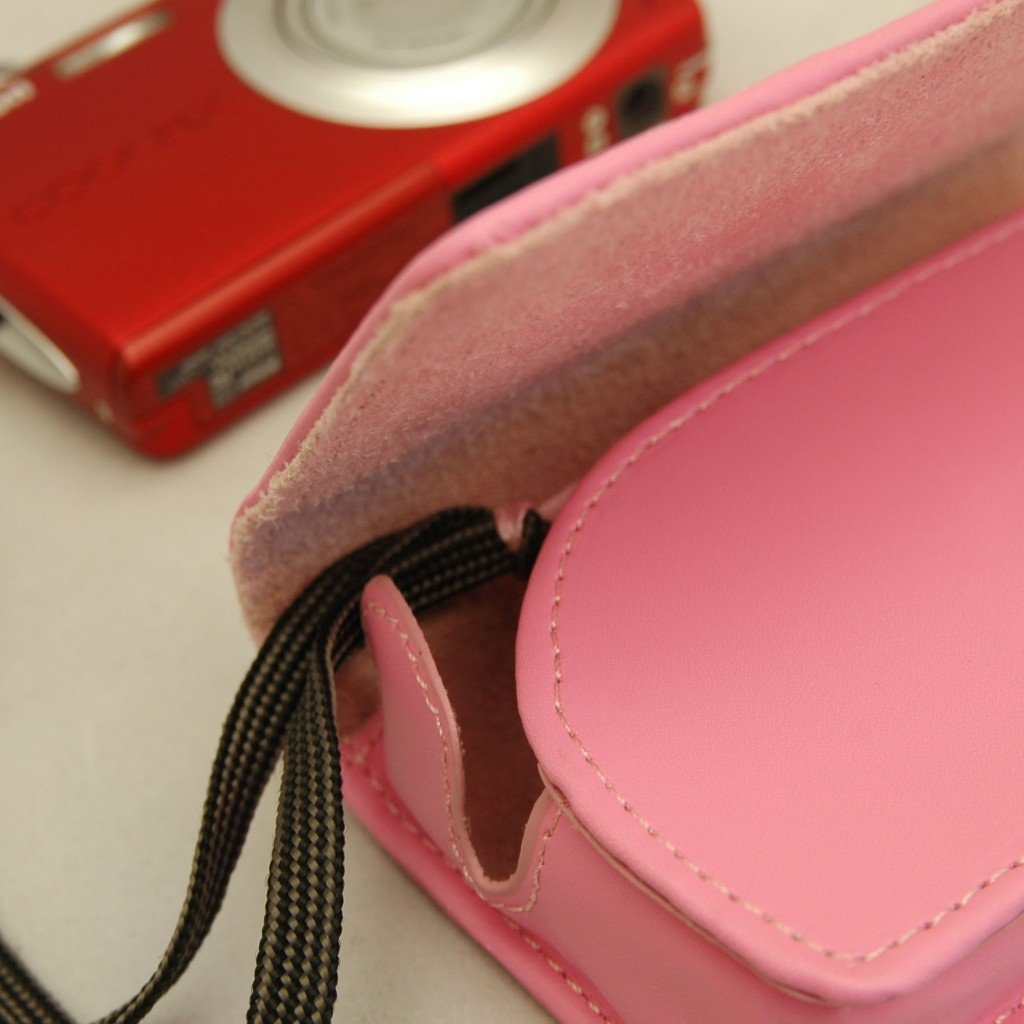 B25 Pink Faux Leather Camera Case Pouch for NIKON COOLPIX S3100 S4150 S570 S6200 S4000 S6300