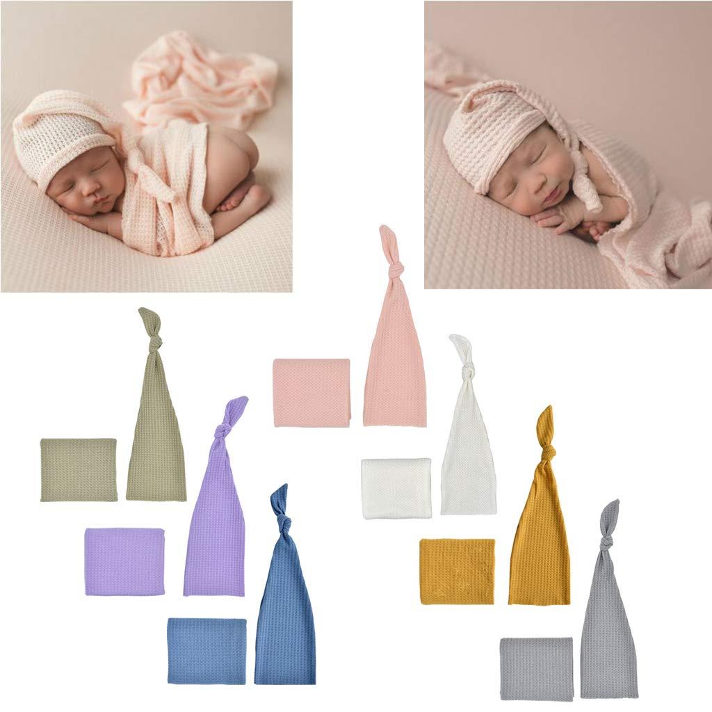 Strick Wrap Set Studio Foto schie/ßen Zubeh/ör JunYe Baby Fotografie Requisiten Blau Born Fotografie Prop Infant Multi Farben Sleepy Knit Sleepy Cap