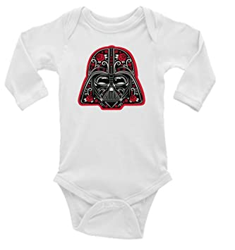 81d091f91e8 Image Unavailable. Image not available for. Color  Darth Vader Star Wars  Red Sugar Skull Long Sleeve Unisex Onesie (12-18)